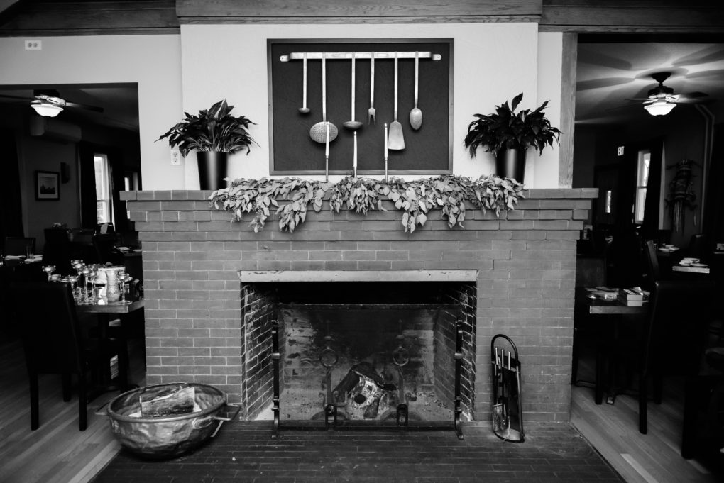 Good Thyme fireplace and mantle