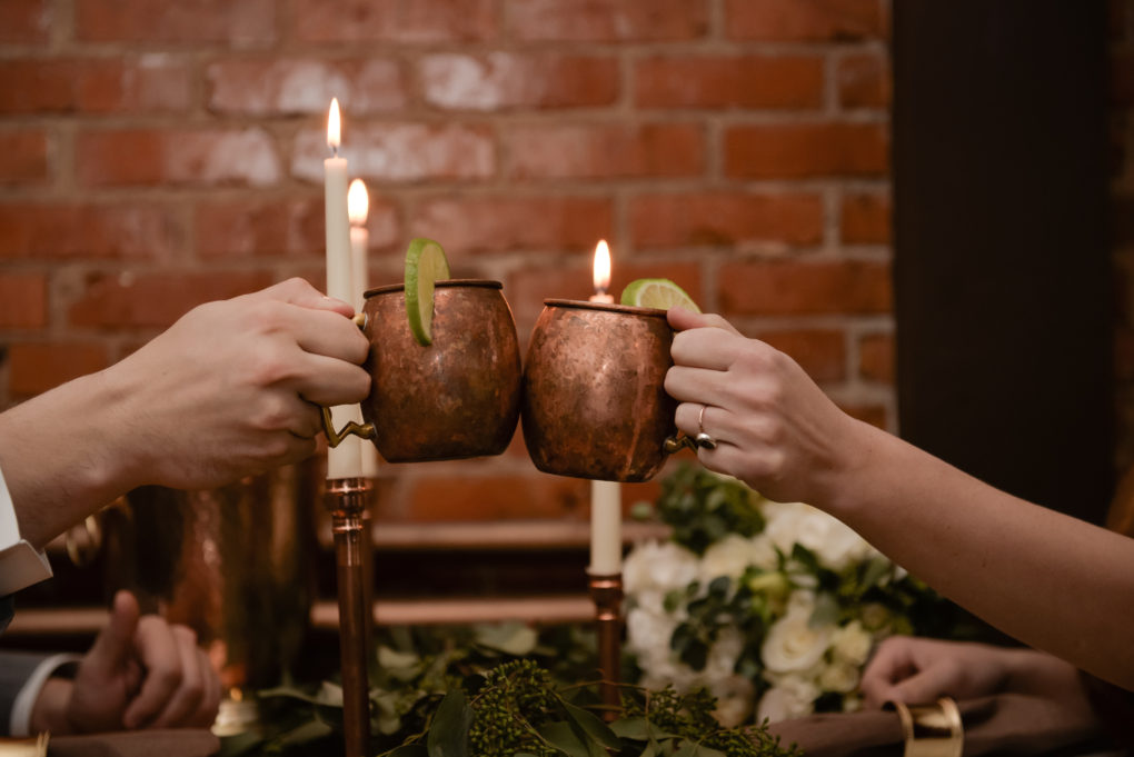 Cheers! Good Thyme Weddings. Photo by Jen Jensen