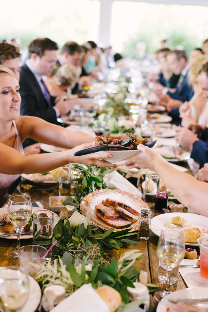 Family Style meal by Good Thyme Catering. Photo by J Kesterson Photography