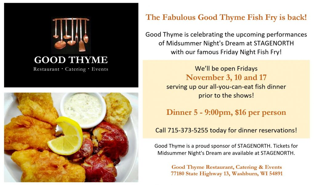 Fish fry promo 102517 good thyme restaurant and catering for Fish thyme menu